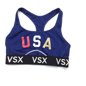 VSX sport bra blue and black